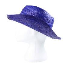 Chapeaux bleus en paille pour femme