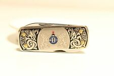 "VINTAGE RARE BEAUTIFUL ENAMEL SWEDEN SMALL POCKET KNIFE ""EKA"" ESKILSTUNA"