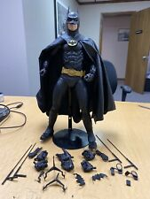 "NECA 18"" Batman 1989 1/4 Scale Figure Michael Keaton Loose With Extra Parts"