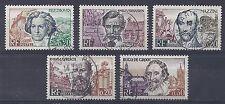 Année 1963  FRANCE serie  N°1382 à 1386 oblitérés