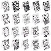 1pc 14.5*10.5cm Kunststoff Prägefolder Schablone  DIY Karten Einklebebuch Decor