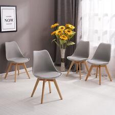 NEU 4er Set Holz küchen stühle Retro gepolsterter Bürostuhl mit Füßen 47*44*82CM