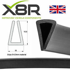 Large Black Rubber U Channel Edging Edge Trim Seal Square Car Van Boat Protect