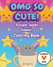 OMG So Cute Adult Kids Colouring Book Kawaii Animals Anime Manga Easy Simple