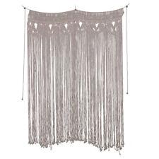 Macrame Wall Hanging Fringe Garland Banner - BOHO Shabby Chic Bohemian Wall Deco