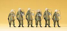 Preiser 10393 h0, uso bgs traje, casco de protección, abwehrstellung, 6 figuras, nuevo