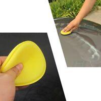 12x Weich Hand Polierschwamm Gelb Polierschwämme 100mm Polierpad Autowachs