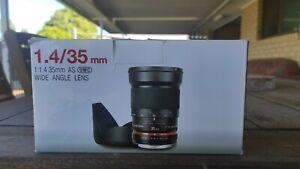 Samyang 35 mm f/1.4 UMC Wide Angle Lens - Nikon