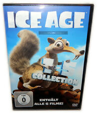 Ice Age 1 2 3 4 5 Box-Set Collection [DVD] Manni, Sid, Diego, Scrat, Deutsch