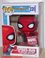 FUNKO POP SPIDERMAN HOMECOMING SPIDERMAN #220 WINGSUIT Collectors Corp IN STOCK