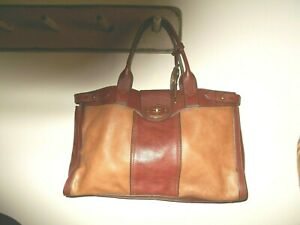 New Without Tags  Large Brown Leather Fossil Tote Bag