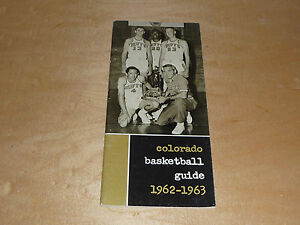 1962 1963 COLORADO COLLEGE BASKETBALL TRACK SWIMMING SKIING MEDIA GUIDE EX-MINT