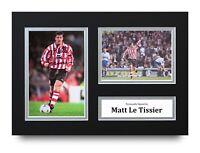 Matt Le Tissier Signed A4 Photo Display Southampton Autograph Memorabilia + COA