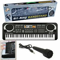 61 Keys Digital Music Electronic Keyboard Electric Piano Organ & Microphone Set.