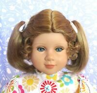 Global SONJA Strawberry Blonde Full Cap Doll Wig #2  Size 14-15 Ponytails