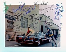 RARE SIGNED STILL CAST OF TVs BATMAN