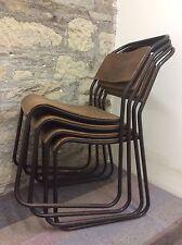 Vintage 1950's industrial Tubular Bentwood Stacking Chair DU-AL of Harrow