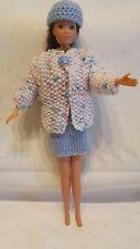 Puppenkleidung.passend für Barbiepuppe, Rock,Jacke,,Käppi 6146 Handarbeit