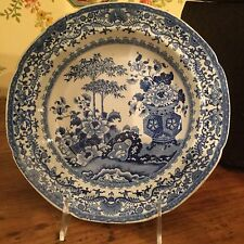 Blue & White Antique English Bowl Pearlware Floral Semi China