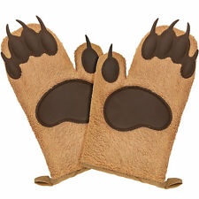 Bear Paw Oven Mitts Set Funny Cute Kitchen Gloves/Mittens/Potholders for Baking