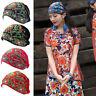 Ladies Ethnic Turban Hat Cap Head Wrap Scarf Beanie Embroidered Florals