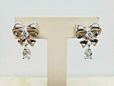 Diamonique Bow Stud Earrings, Sterling Silver QVC SOLD OUT $50