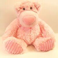 "Aurora Baby Teddy Bear Pink Plush Stuffed Animal 12"" Handmade"