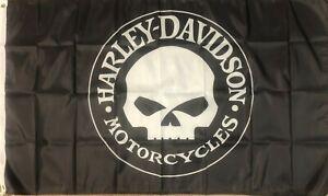 Harley Davidson Totenkopf Fahne 150 x 90 Route 66 USA Amerika Road Glide Iron