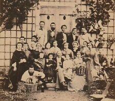 RARE PHOTO DE FAMILLE NOMBREUSE CDV  par EUGENE VAUDIN à AUXERRE