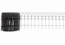 ZIERGEFLECHT, ZIERGITTER ANTHRAZIT,  Höhe 40 cm, Rollenlänge 10 m