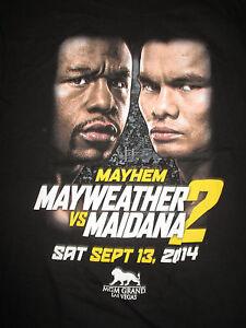 "2014 FLOYD MAYWEATHER vs MARCOS MAIDANA Sept 13, 2014 ""MAYHEM 2"" (LG) T-Shirt"