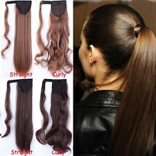 UK Seller Wrap On Ponytail Clip in Hair Extensions Pony Tail Long short hair LTd