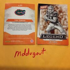 TIM TEBOW #C1 FLORIDA GATORS Star MVP Legend Panini 2016 National Convention