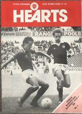 More details for sunderland v hearts friendly 1980/81
