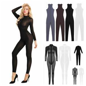 Women Yoga Tank Sheer Casual Playsuit Sexy Jumpsuit Lingerie Bodysuit Long Pants