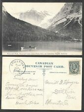 1905 Canada Postcard - Field, British Columbia - Emerald Peak and Lake