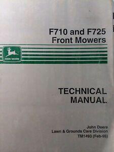 John Deere F710 F725 Front Mower Tractor Technical Master Repair Service Manual