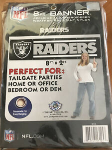 "NFL Las Vegas Raiders 8 ft"" x 2 ft"" Team Banner"