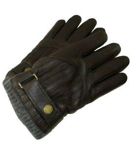 Polo Ralph Lauren Men's Medium Brown Lamb Leather Driving Gloves Thinsulate NWT