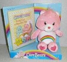 Play Along Care Bear CHEER BEAR & BOOK SET Stuffed Plush 2004 *Unused MIB