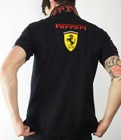 Ferrari F1 Polo Shirt For Men Size - L in Black