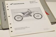 2004 CR250R CR250 R GENUINE Honda Factory SETUP INSTRUCTIONS PDI MANUAL S0191