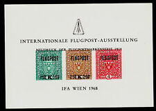 AUSTRIA    MNH  INTERNATIONLAE FLUGPOST-AUSSTELLUNG COVENTION SOUVENIR CARD IFA