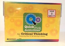 Edupress Teacher Resource Quick Pick Activities Level 2 Ep398 Critical Thinking