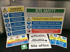 Construction / Building Site Safety Sign Complete Starter Pack - Rigid Plastic