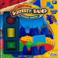 Crazy Quick Squeezy Sand Set Magic Kids Toy Shape Shifting Medieval Castle BLUE