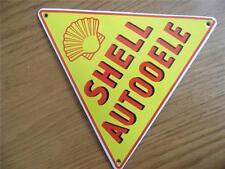 Vintage style émail ware plaque métal publicité signe garage * shell autooele *