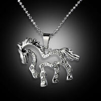 Charm-Novelty Crystal Pony Chain Necklace Pendant Accessories Gifts Hot 1pcs