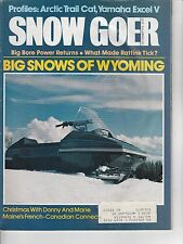 DEC 1978 SNOW GOER snowmobile magazine