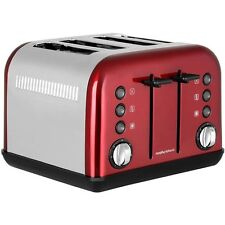 Morphy Richards 242030 Accents 4 Slice Toaster in Red